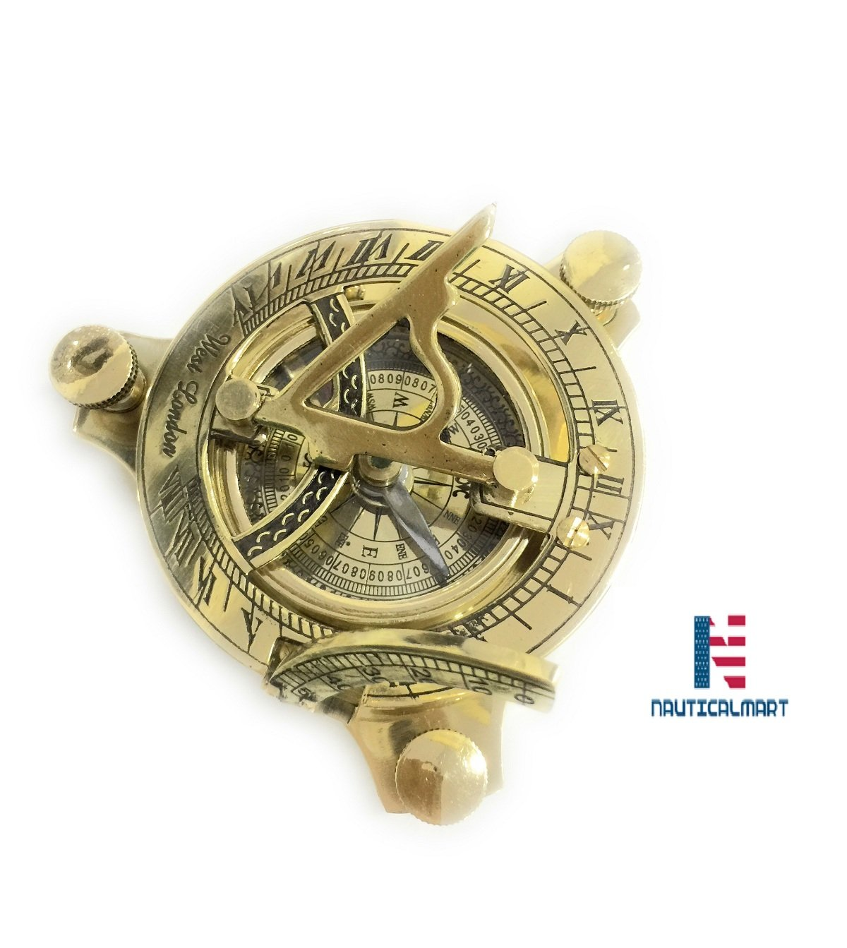 NM033710A Brass Sundial Compass 4'' - Case Pack of 16
