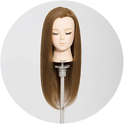Manikin Head Cabeza Manikins Para Peluca Cabello Pelo Profesional Real Human Hair