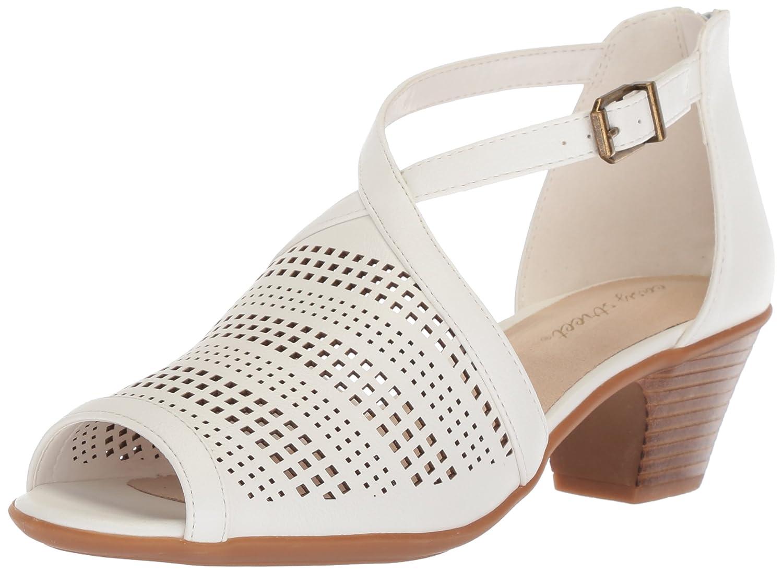 White Easy Street Womens Anita Heeled Sandal 6 M US