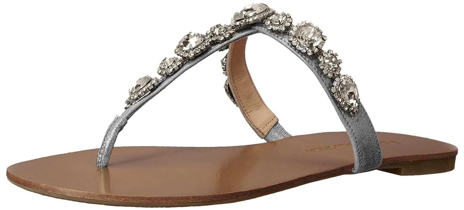 Amazon.com | Badgley Mischka Women's Cliche Flip Flop, Silver, 5.5 M US |  Flip-Flops