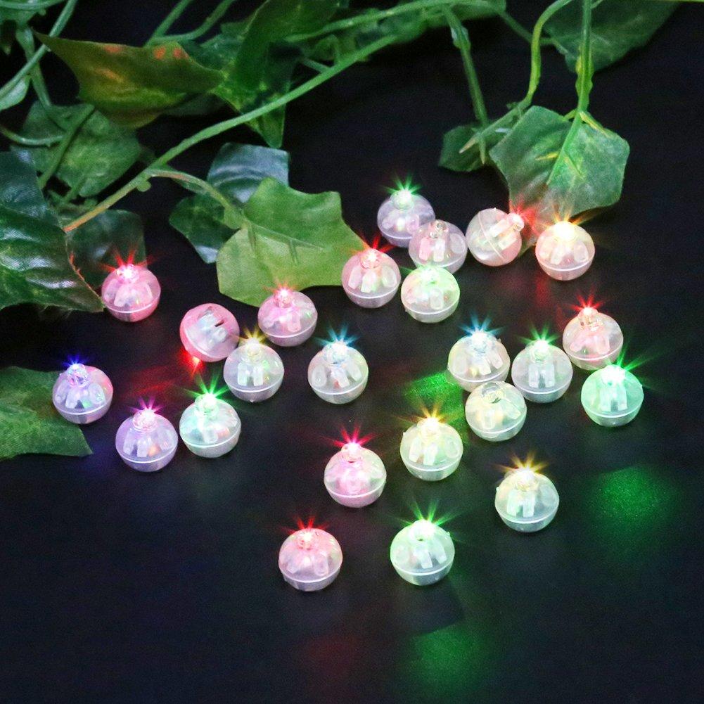 Amazon.com: Accmor 100pcs LED Mini Round Ball Balloon Light, Long ...