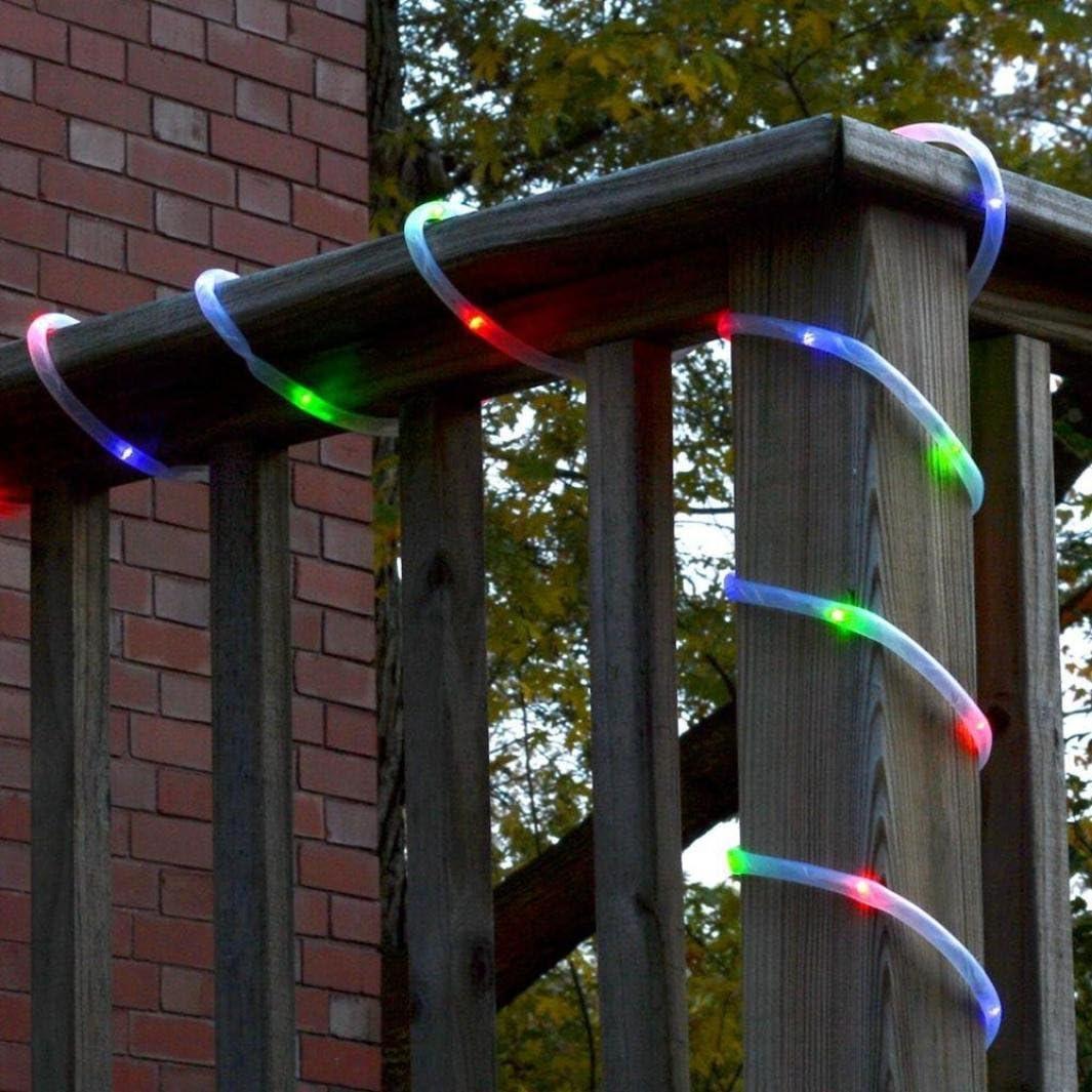 Hunpta - Guirnalda de luces solares para jardín, exteriores, luces solares de jardín, impermeables, para vallas, terrazas, caminos, patio, pérgola (multicolor): Amazon.es: Iluminación