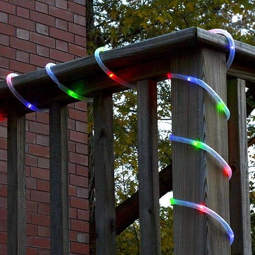 Hunpta - Guirnalda de luces solares para jardín, exteriores, luces ...