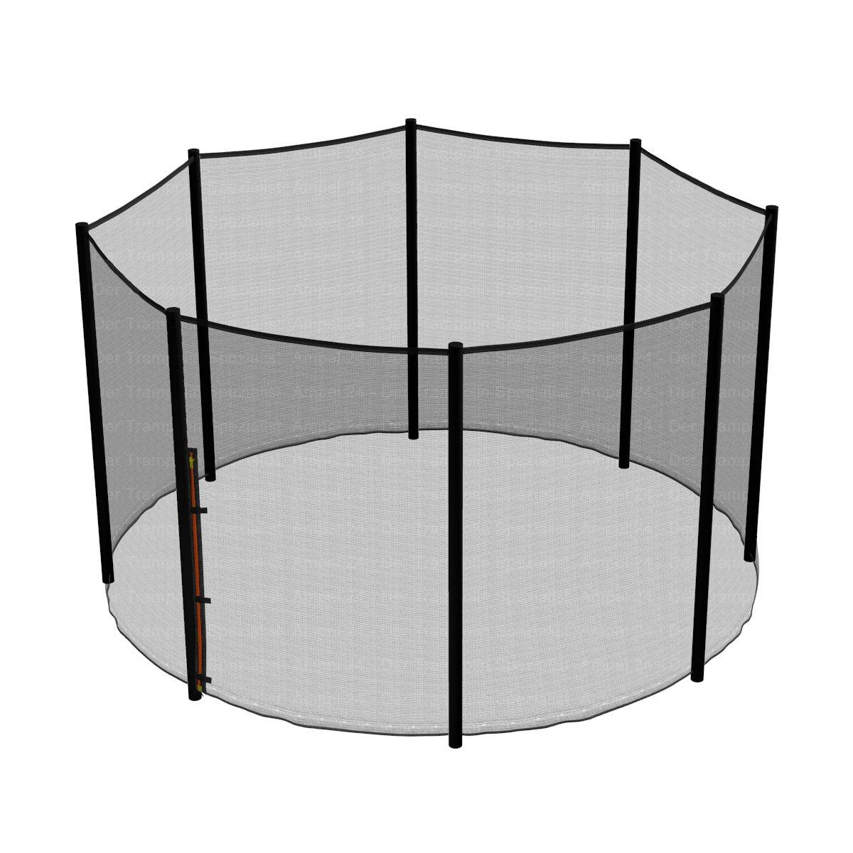 Ampel 24 Trampolin Sicherheitsnetz   Ersatznetz 305 cm für 8 Pfosten   UV-Besteändig   extrem reißfest   Netz außenliegend