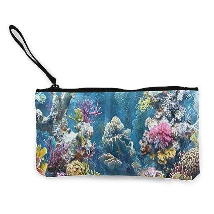 Monedero para mujer con diseño de arrecifes de coral y ...