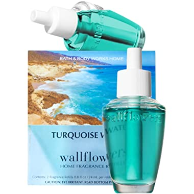 Bath & Body Works Turquoise Waters Scented Wallflowers Home Fragrance Refills One Box of 2 Refill Bulbs