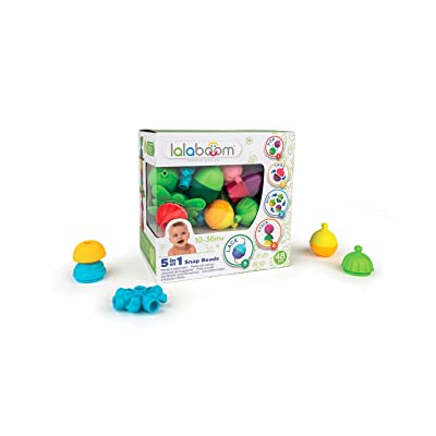 Lalaboom BL450 – Step-by-Step Developmental Activity Beads 48 Piece Deluxe Set – Pop, Twist, Mix, Stack, and Lace — Montessori Method STEM Focus – Dishwasher Safe - Ages 10 Months - 3 Years: Toys & Games [5Bkhe0506130]