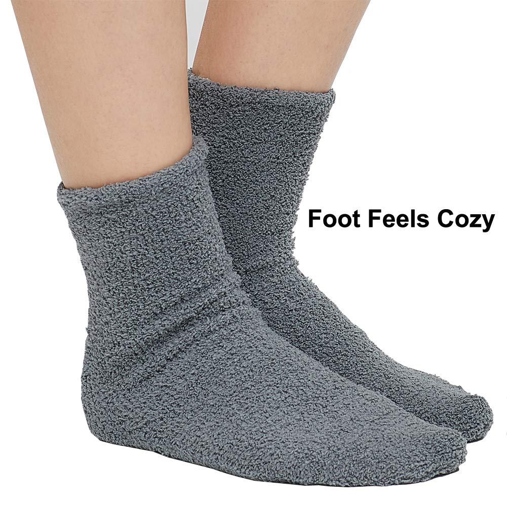 Fuzzy Socks Warm Super Soft Winter Socks for Women /& Men Anti-Skid Crew Slipper Socks