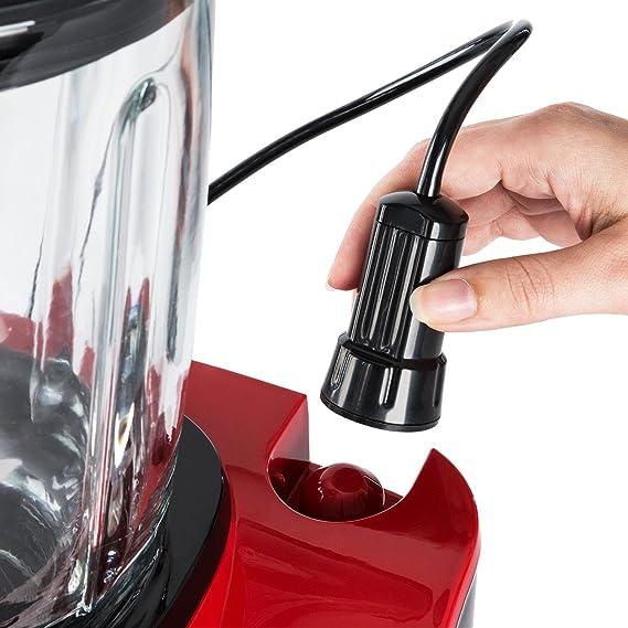 Klarstein Airakles Batidora de vacío - Smoothies, Licuadora, Batidora alto rendimiento, 1300 vatios, 1,5 L, 7 Programas, 26.000 RPM, Trituradora, Picadora de hielo, 6 ...