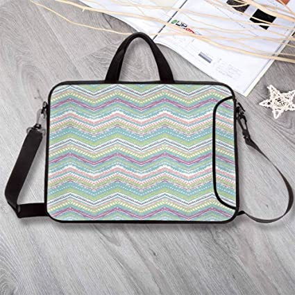 cfc9128db371 Amazon.com: Pastel Neoprene Laptop Bag,Hand Drawn Ethnic Motif ...