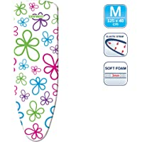 Leifheit L71598 Classic Cotton Ironing Board Cover, Medium, Flower