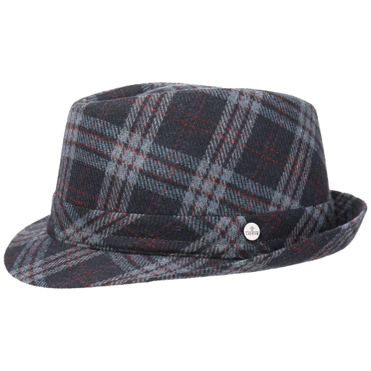Lierys Cappello in Lana Checked Trilby Uomo Invernale