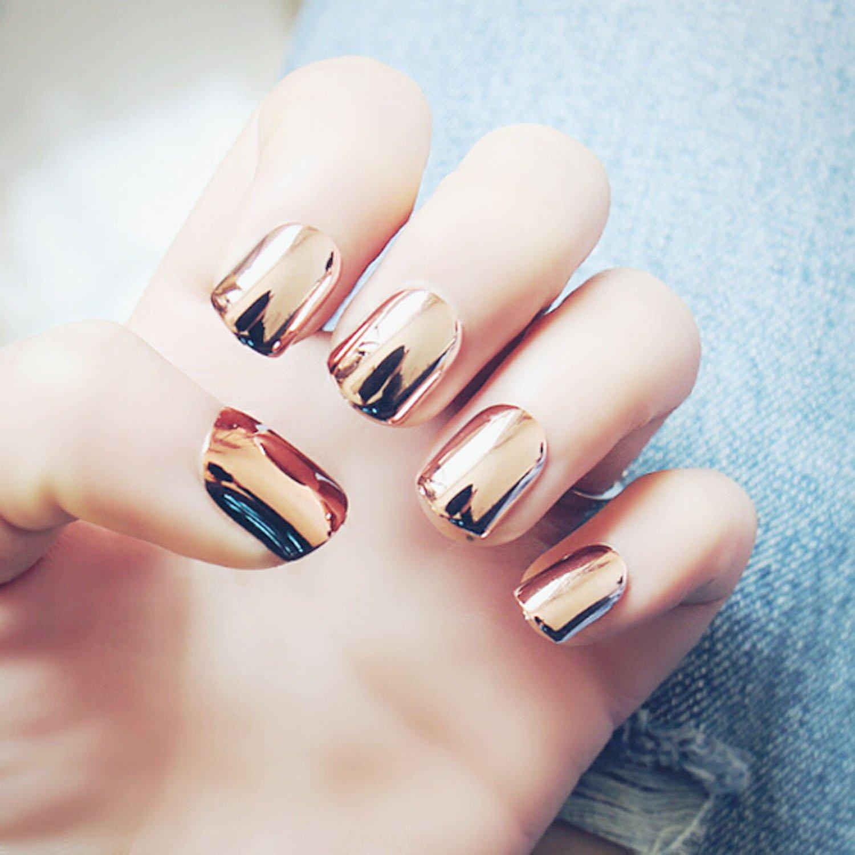 Amazon.com : 24pcs Royal Style Fake Nails press on nails with ...