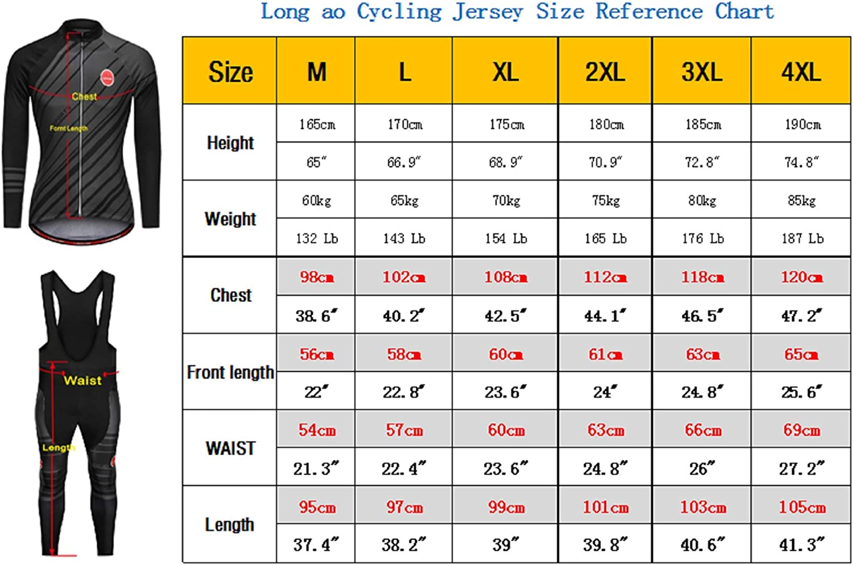 LongAo Mens Spring and Autumn Cycling Jerseys