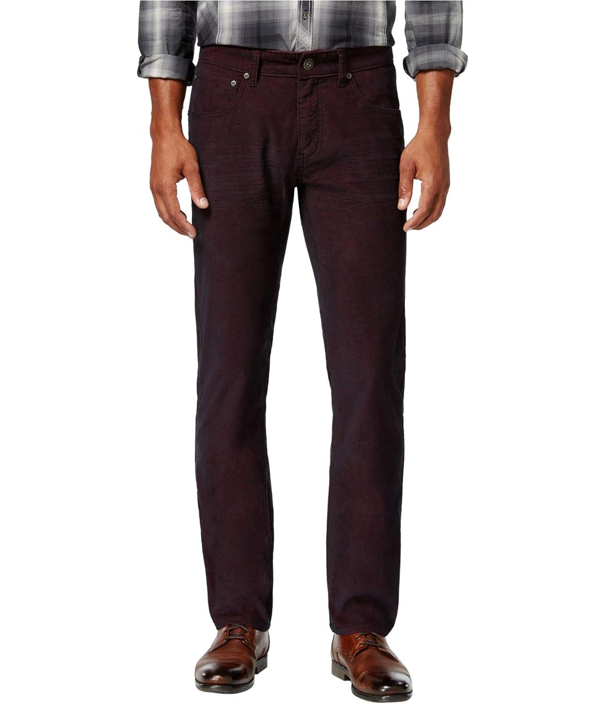 38W x 34L, Bright Rhubarb INC International Concepts Mens Slim-Fit Stretch Corduroy Pants