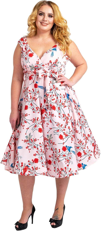 Miss Lavish London Women's Plus Size Dresses Floral Retro Rockabilly 40s and 50s Vintage Bridesmaid Dresses