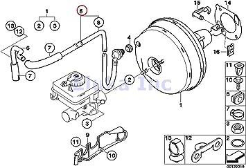 2007 bmw 525i brake diagram amazon com bmw genuine brake booster hose with check valve  bmw genuine brake booster hose
