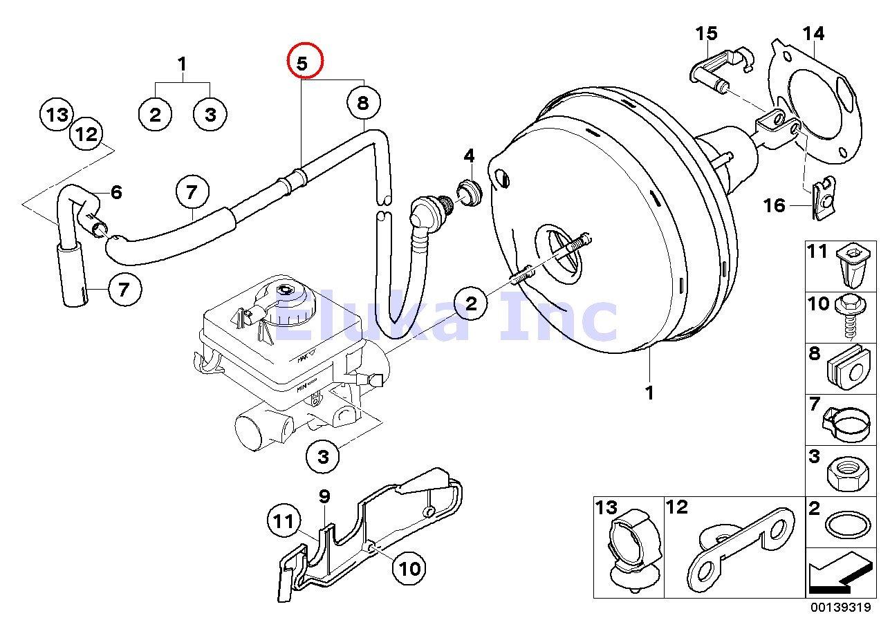 Brake Booster Vacuum Hose on 99 Vw Jetta Mk3