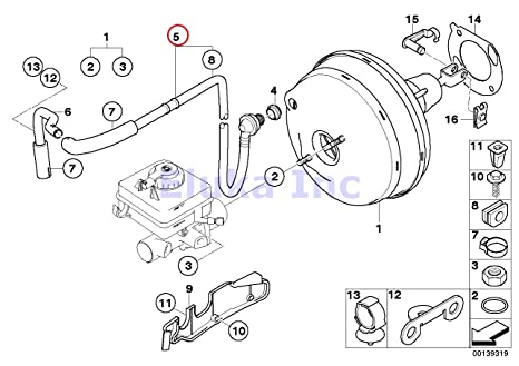 Amazon Com Bmw Genuine Brake Booster Hose With Check Valve