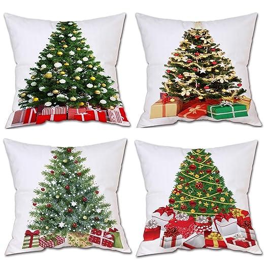 CSSD Merry Christmas - Funda de cojín para sofá o Cintura, 4 ...
