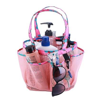 Amazon.com: SAISN Mesh Portable Shower Caddy with 7+1 Pocket Bath ...