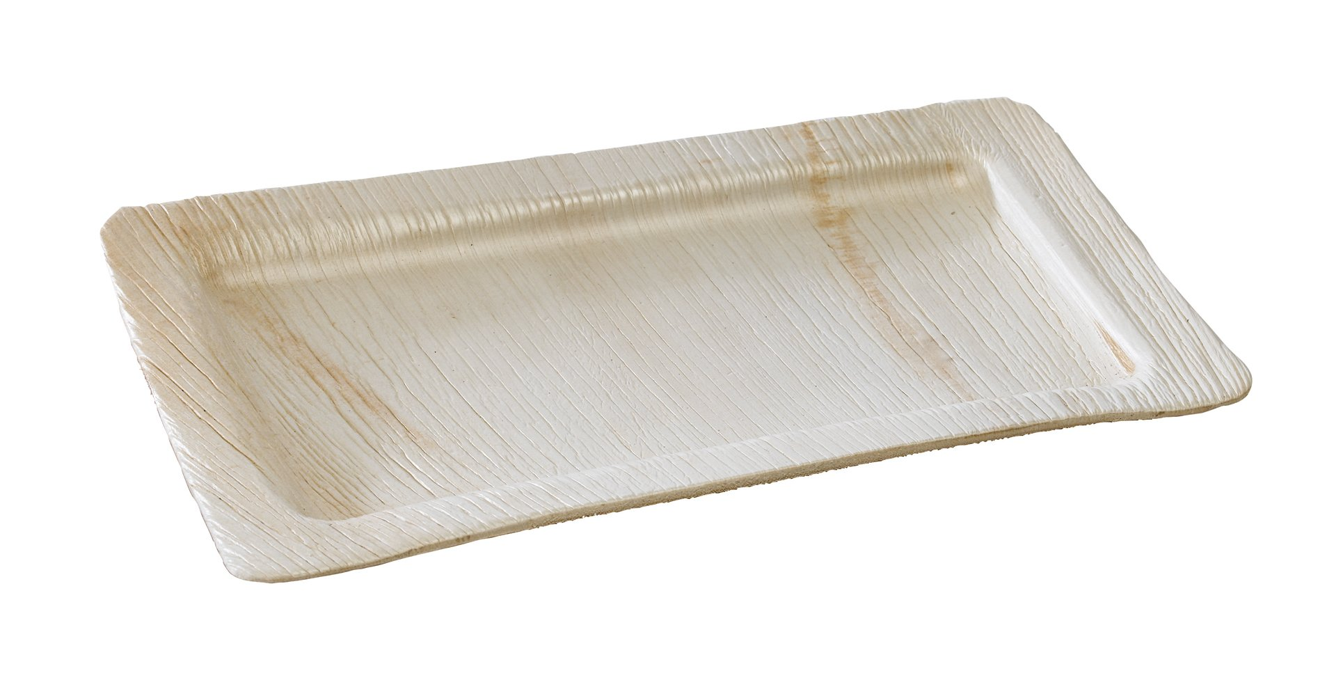 PacknWood Palm Leaf Rectangular Plate, 11'' x 7'' (Case of 100) by PacknWood