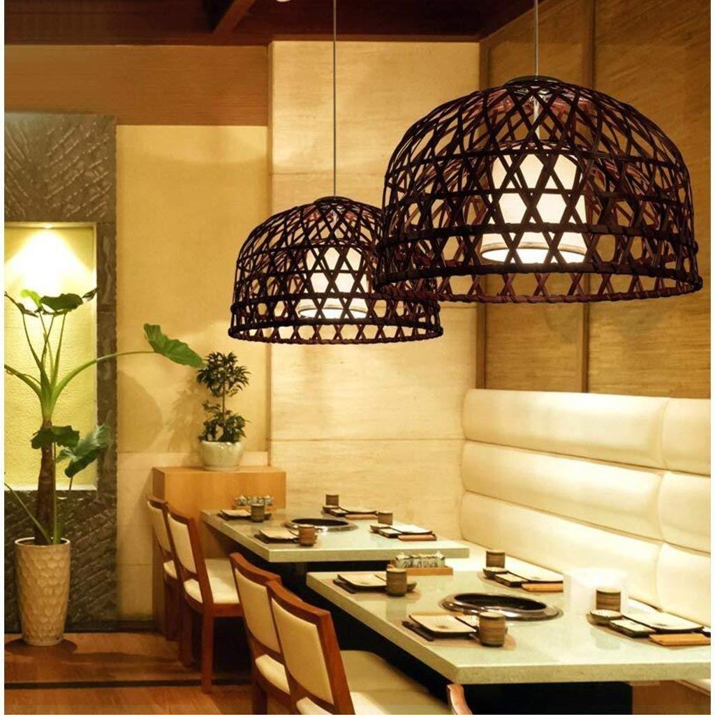LQQ Gyy Home Hotel Illuminazione Lampadari Squisita, Ristorante in Stile Cinese Antico Lampadario di bambù Sud-EST Asiatico personalità Creativa Retro Cafe Arte Luce del Pendente E27,55  55  35cm