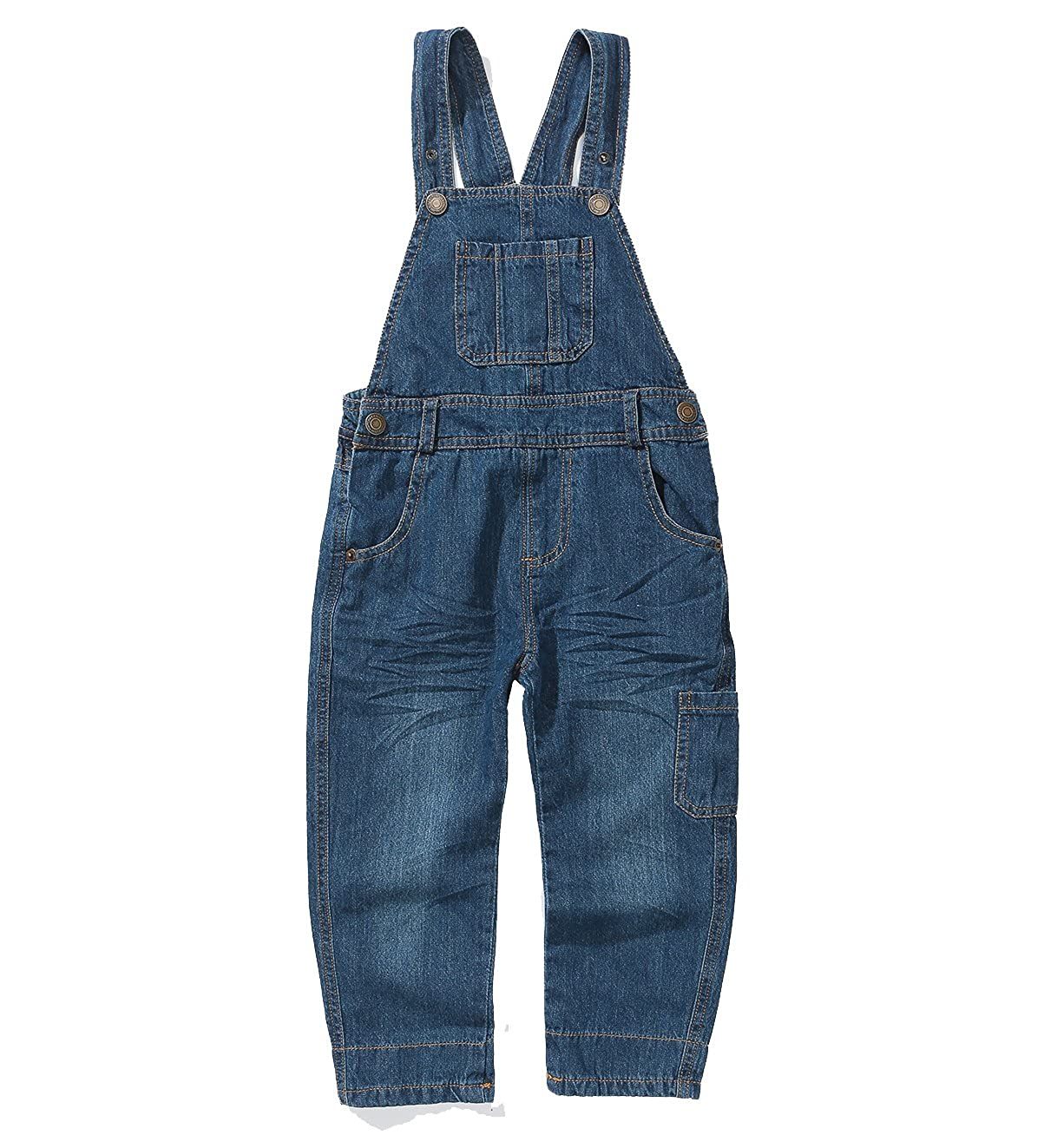 Grandwish Boys Girls Dungarees Blue Denim Bib Overalls 2-10 Years