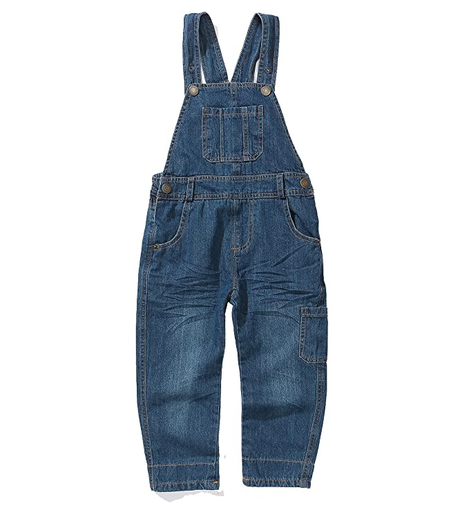 1940s Children's Clothing: Girls, Boys, Baby, Toddler Grandwish Boys Girls Dungarees Blue Denim Bib Overalls 2-10 Years  AT vintagedancer.com