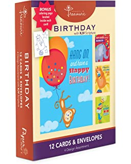 Amazoncom Coloring Birthday Cards Box Assortment Set 8 Pack Kids