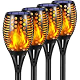 Ambaret Solar Lights Outdoor, Waterproof Flickering Flames Solar Torch Lights Outdoor Landscape Decoration Lights Dusk to Daw