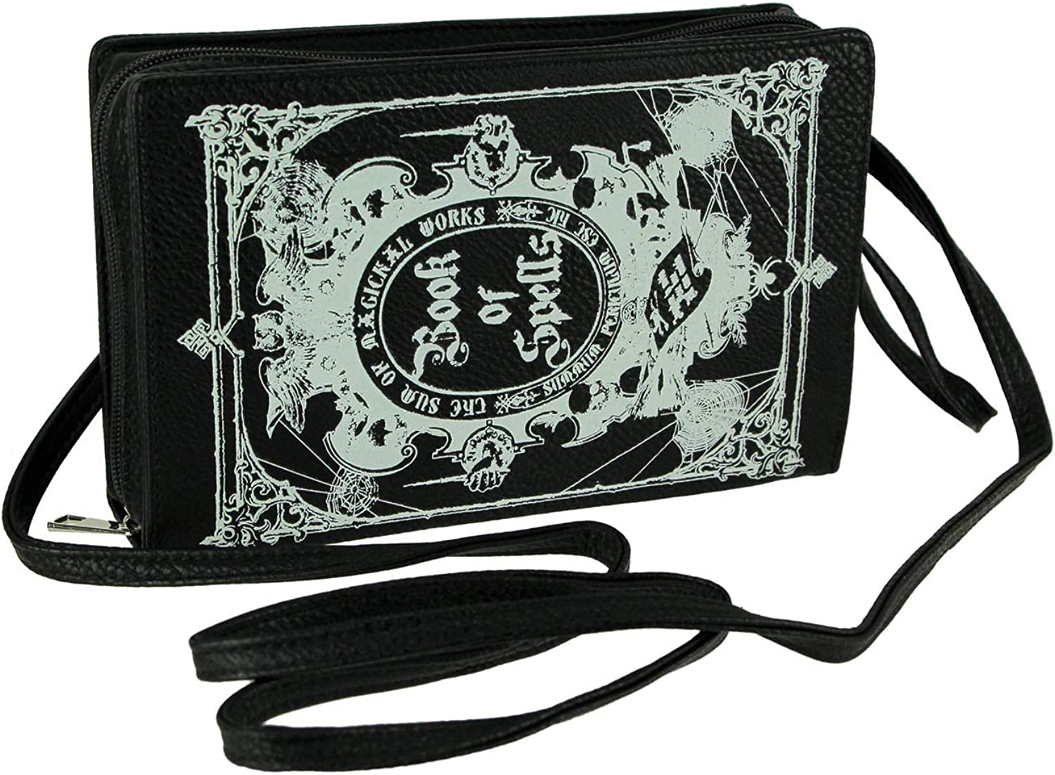 FREE SHIPPING Gothic Black Magical Spell Book Messenger Bag