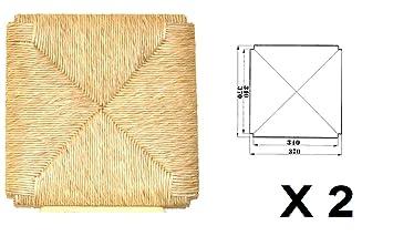 Asientos de repuesto para silla de paja, modelo Sigfrido, 2 unidades: Amazon.es: Hogar