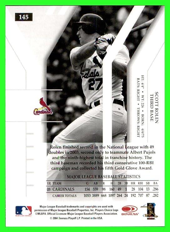Amazon.com: 2004 Donruss Elite #145 Scott Rolen ST. LOUIS CARDINALS: Sports Collectibles