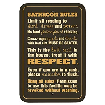 Cool Bathroom Rules Silly 9 X 6 Wood Sign Beutiful Home Inspiration Semekurdistantinfo