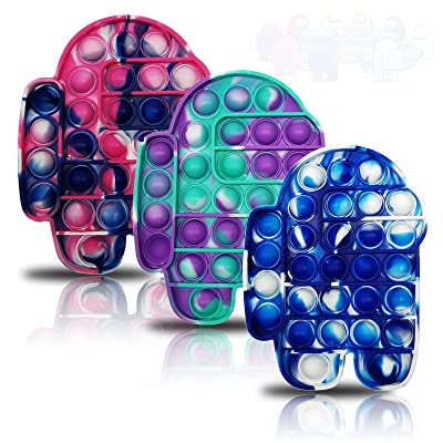Squeeze Sensory Tools to Relieve Emotional Stress for Kids Adults Autism Special Needs Stress Reliever Fidget Toys,Silicone Tie-dye Push Bubble Fidget Toy