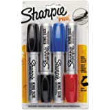 Sharpie 15674PP King Size Markers Chisel Tip Blue/Red/Black 4/Set