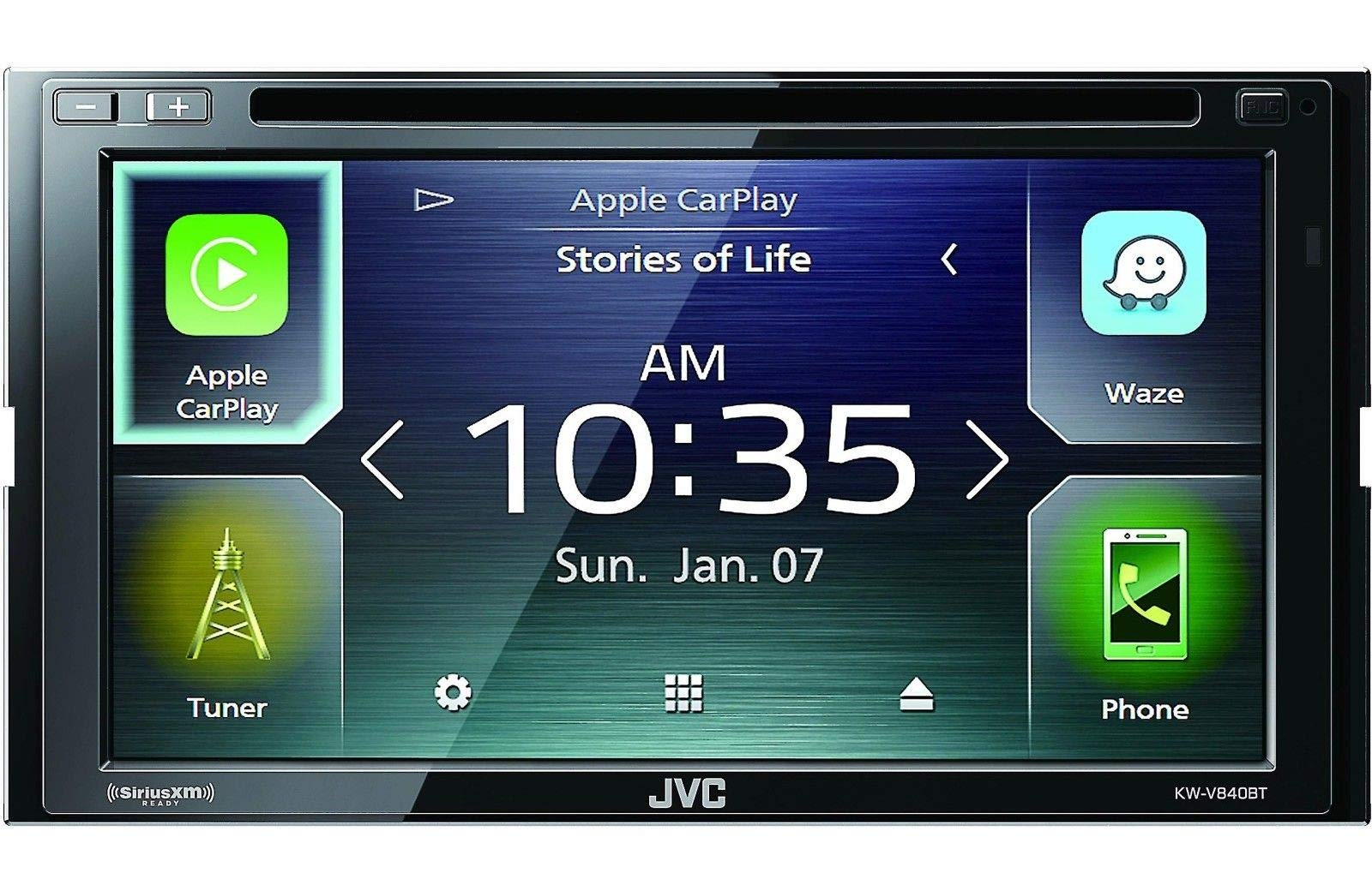 JVC KW-V840BT compatible with Android Auto / Apple CarPlay CD/DVD Stereo / JVC WebLink by JVC