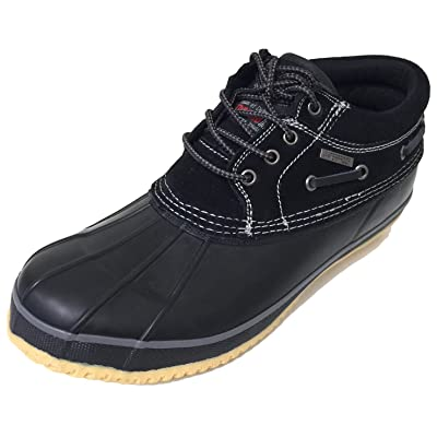 ClimaTex V30SB Men's Short Duck Boots Suede Thermolite Insulated Waterproof Snow Rain Boat Shoes (9 D(M) US, Black/Black) | Snow Boots