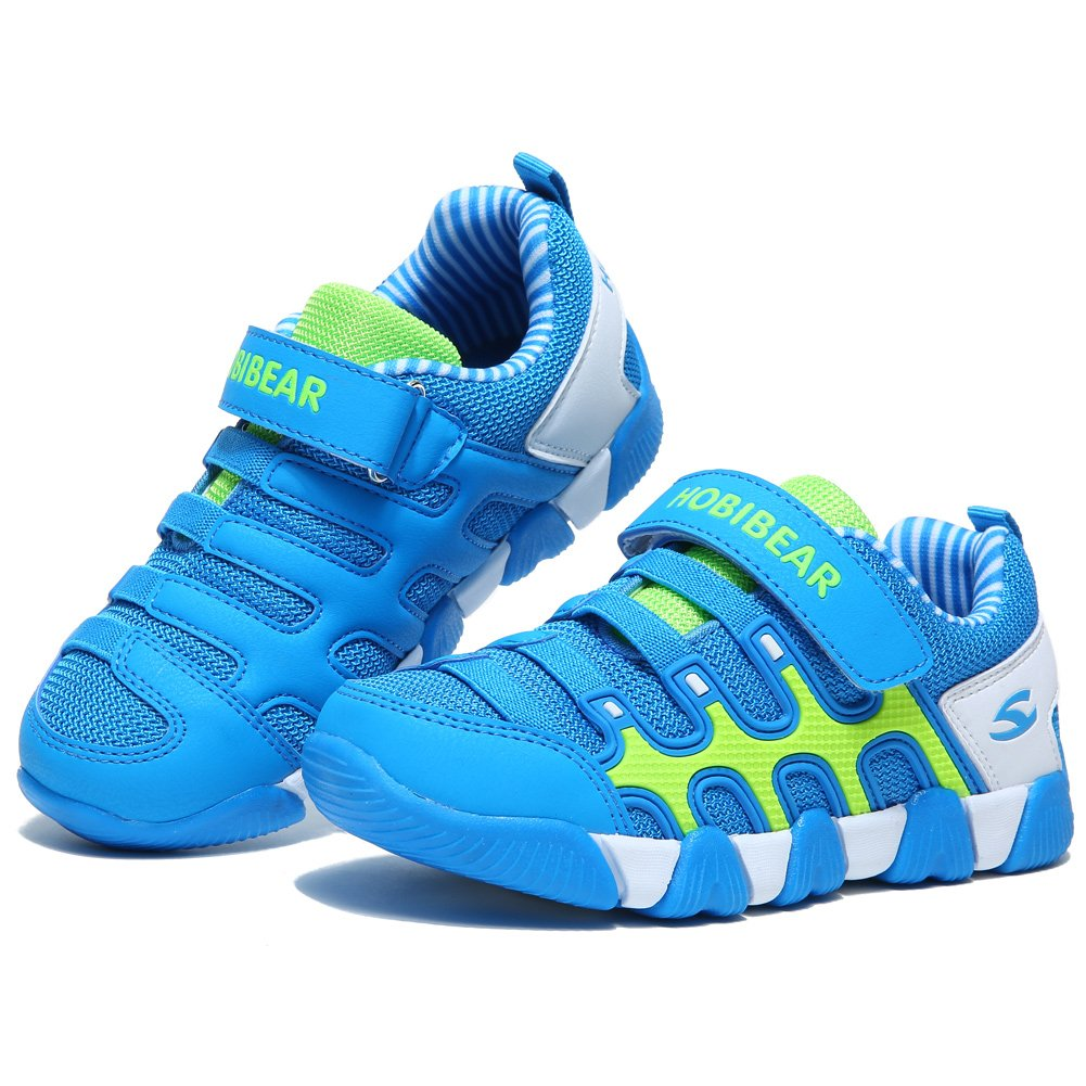 HOBIBEAR Kids Sneakers Casual Running Shoes for Boys&Girls AS3336 (Light Blue, 4M) by HOBIBEAR (Image #6)