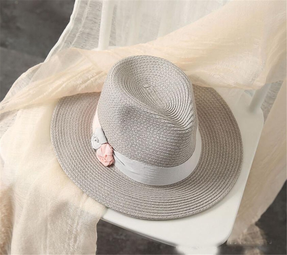 Amazon.com   Dig dog bone Women s Hat Bowknot Pure Color Spring Summer  Straw Hat Sunblock Sun Hat   Sports   Outdoors 18492f63cfe8