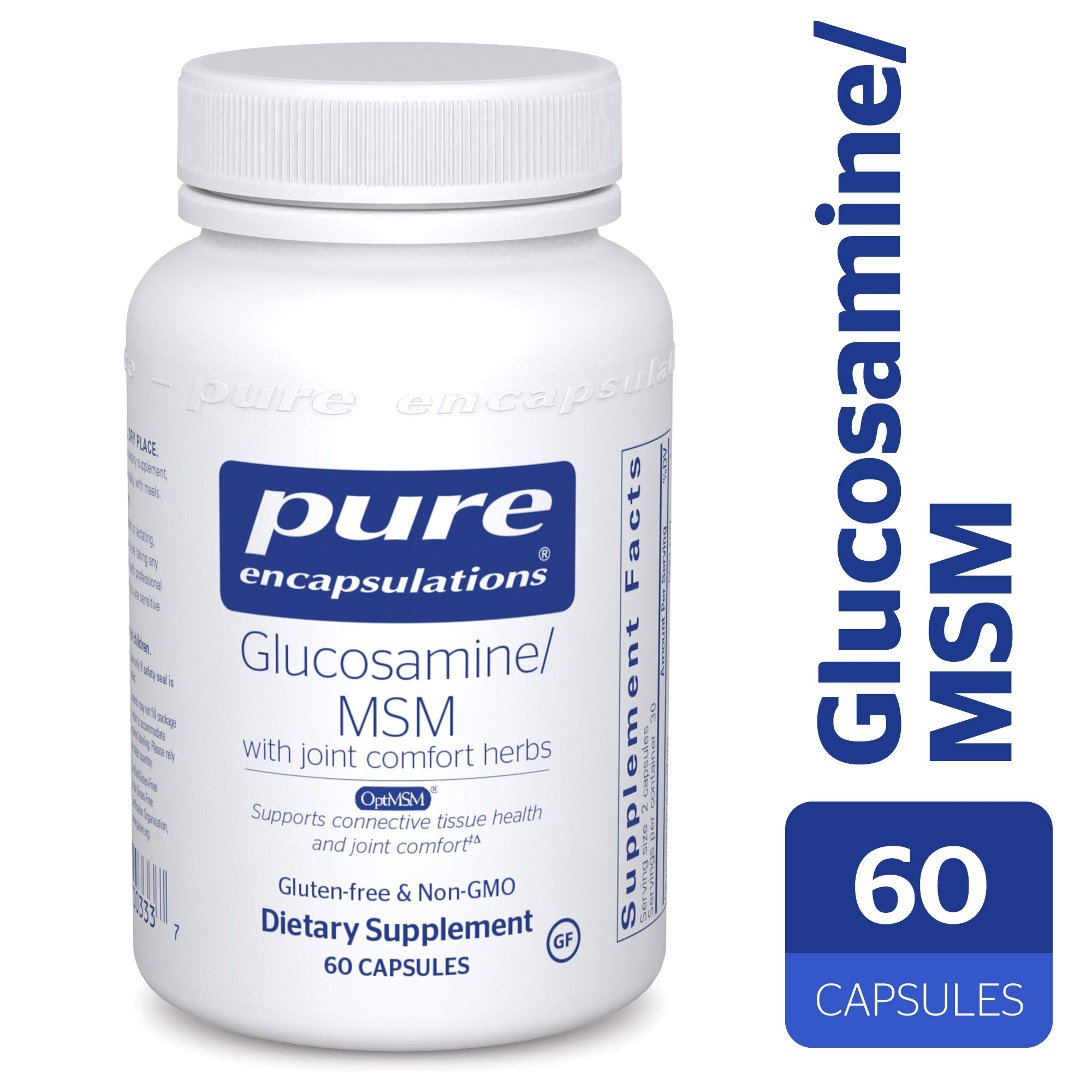 Pure Encapsulations - Glucosamine/MSM - Dietary Supplement Support for Healthy Joint Function and Tissues* - 60 Capsules