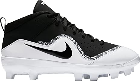 Nike Men's Force Trout Pro MCS Baseball Cleats (Black/White, 8 D(