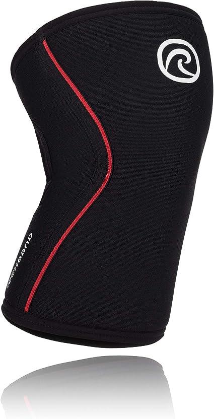 1 Sleeve Black//Red Rehband Rx Knee Sleeve 7mm XSmall
