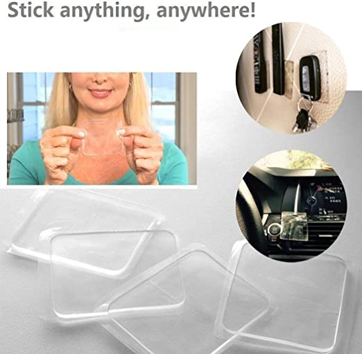 20 Pieces Sticky Silicone Gel Pads Transparent Non-Slip Sticky Pads Multipurpose Gripping Pads for Car Cell Phone Accessories Home