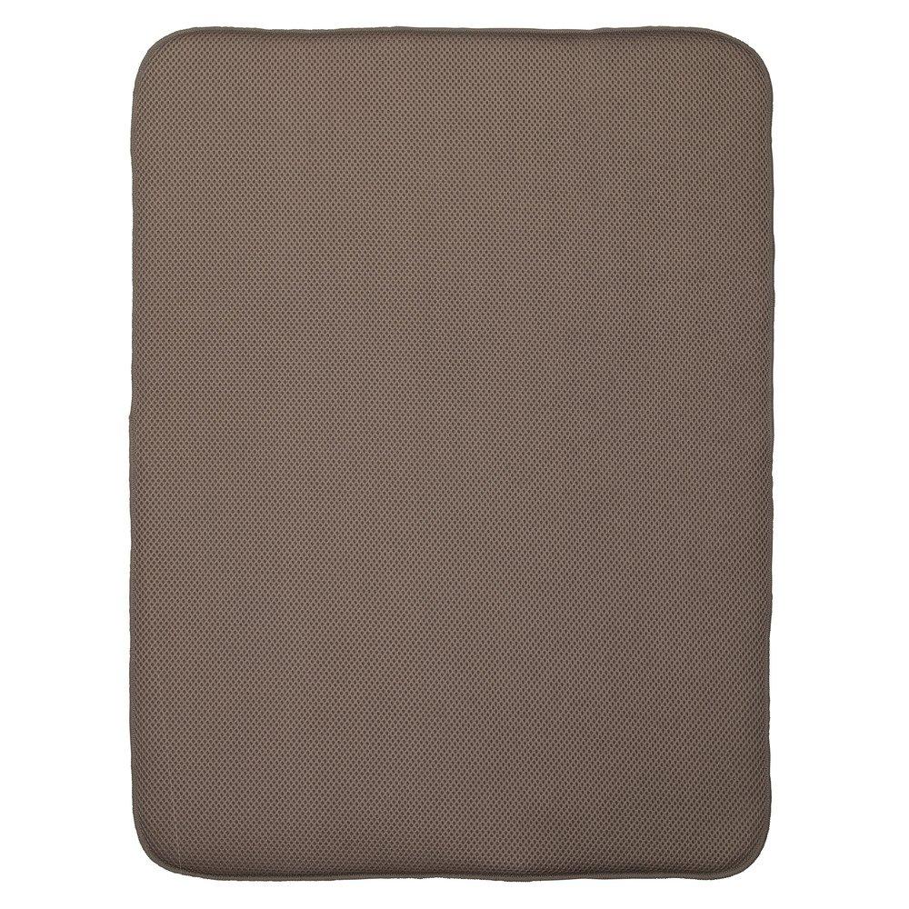 InterDesign iDry Tappetino lavello extra-large, Spesso tappetino cucina in poliestere e microfibra per asciugatura delle stoviglie, caffè/avorio 41143
