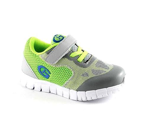 GRUNLAND Zero PP0301 Grigio Lime Scarpe Bambino Sneakers Elastico Strappo   Amazon.it  Scarpe e borse ca8653c123d