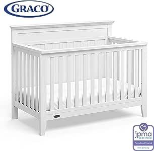 Amazon.com: Graco Georgia 4-in-1 Convertible Crib (White ...