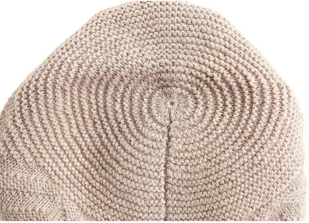 JIUMU Women Beanies Winter Wool Raised Grain Hat Female for Women Knitted Thick Cap