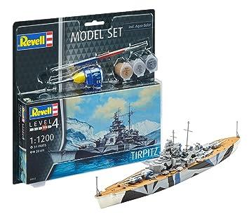 Revell- Acorazado alemán Tirpitz Modelo Set, con Pinturas ...